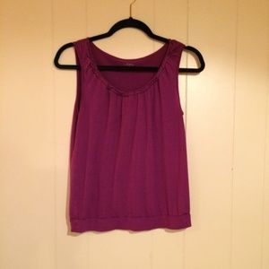 Ann Taylor Loft Purple Tank Small
